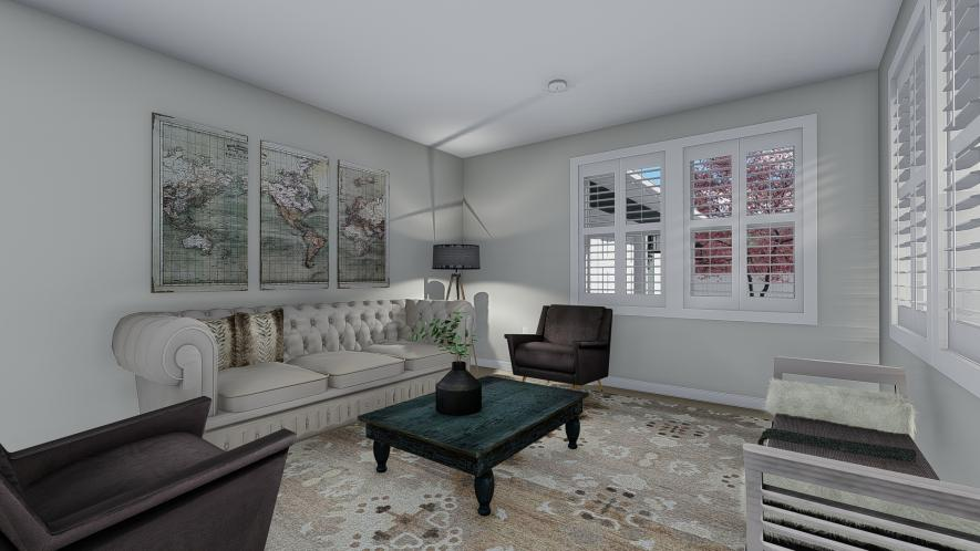 Craftsman House Plan - Campbell 90261 - Living Room