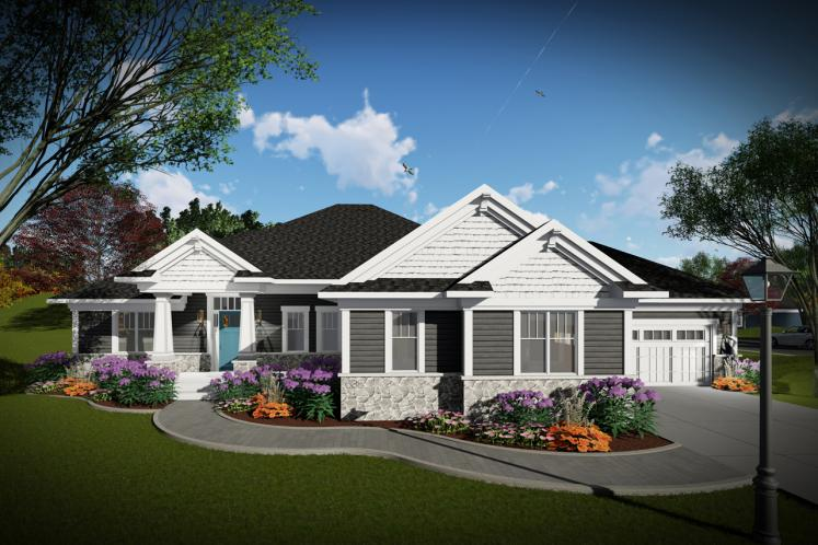 Craftsman House Plan -  90263 - Front Exterior