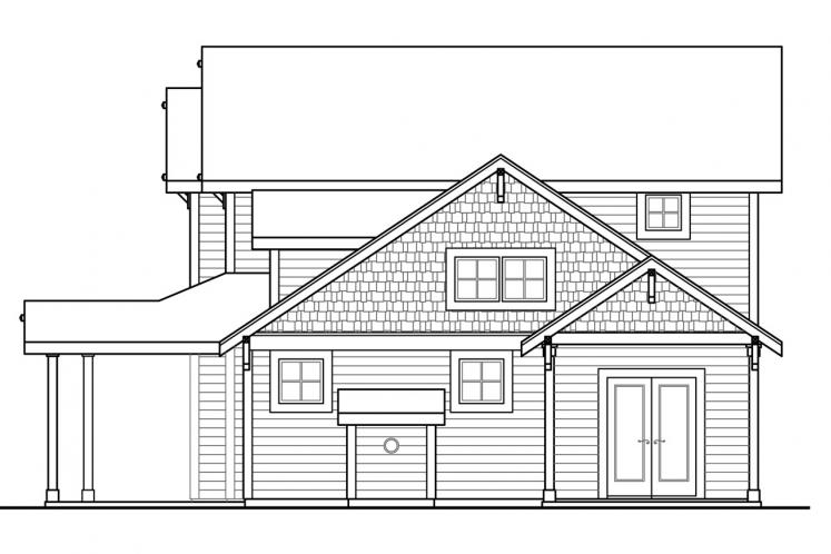 Country House Plan - Fairhaven 90311 - Right Exterior