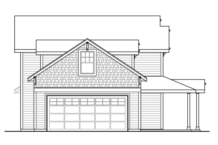 Traditional House Plan - Fairhaven 90311 - Left Exterior