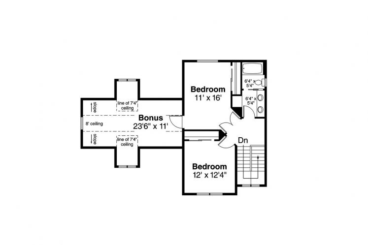 Traditional House Plan - Fairhaven 90311 - 2nd Floor Plan