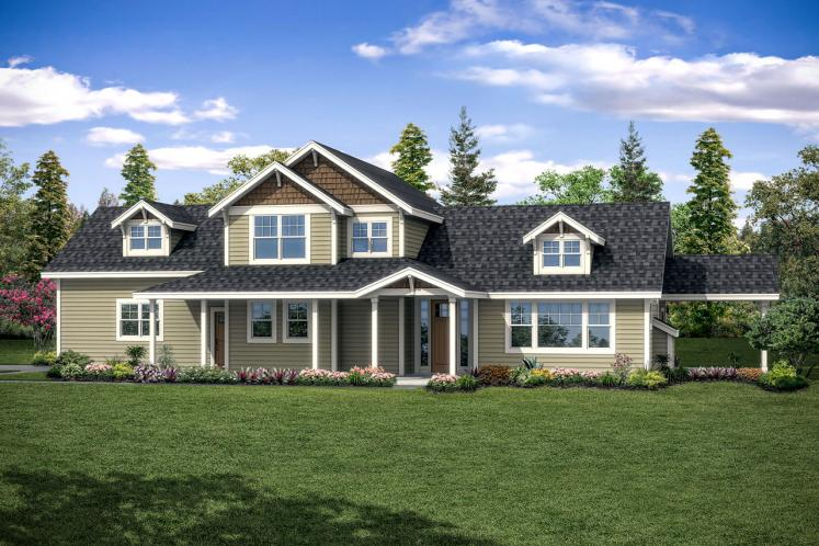 Country House Plan - Fairhaven 90311 - Front Exterior