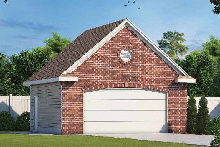 Country Garage Plan -  90332 - Front Exterior