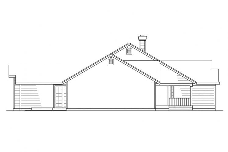 Traditional House Plan - Marysville 90373 - Left Exterior