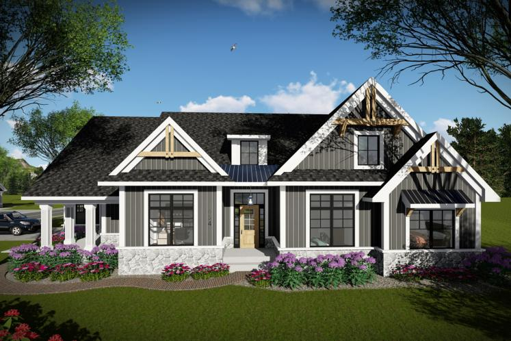 Ranch House Plan -  90400 - Front Exterior