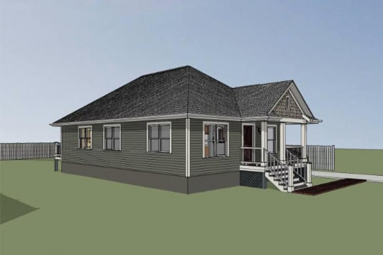 Bungalow House Plan -  90425 - Left Exterior