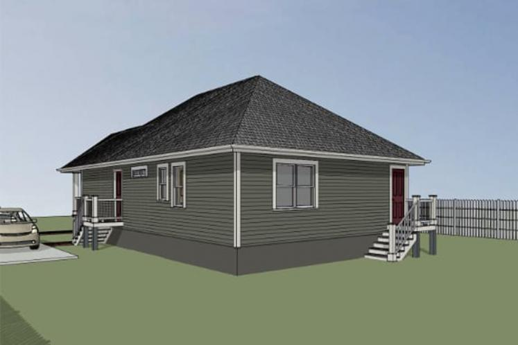 Cottage House Plan -  90425 - Right Exterior