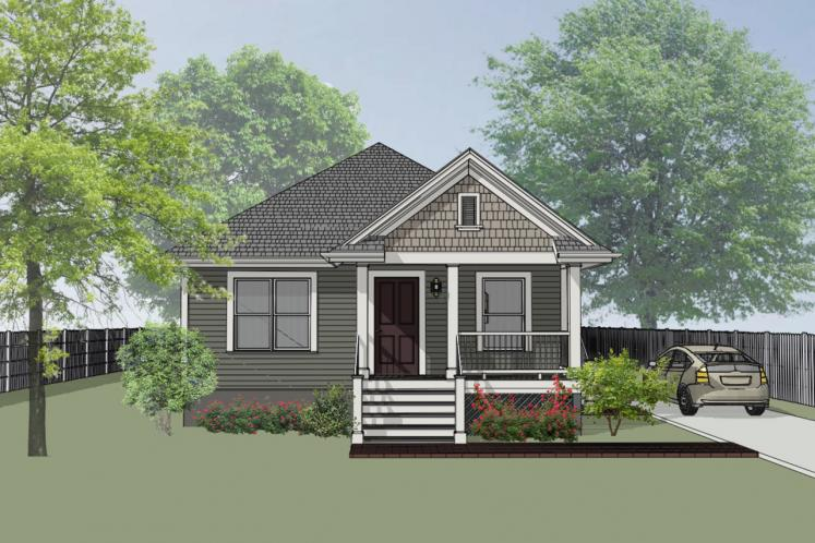 Country House Plan -  90425 - Front Exterior