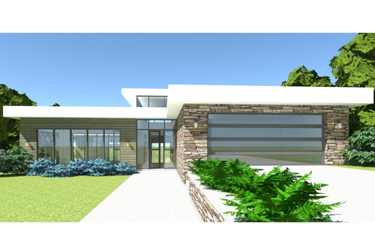 Modern House Plan - Searcy 90447 - Front Exterior