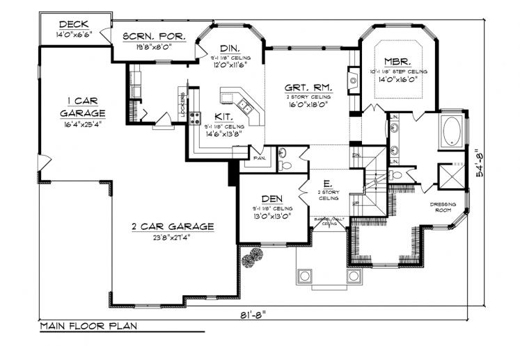Classic House Plan -  90578 - 1st Floor Plan