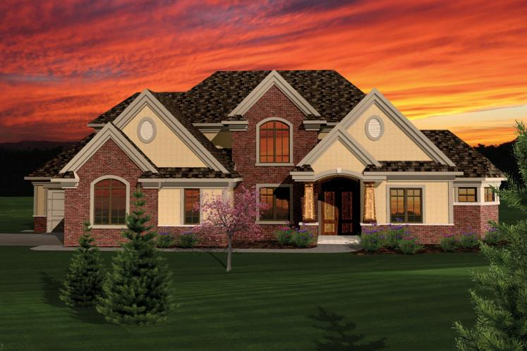 Classic House Plan -  90578 - Front Exterior