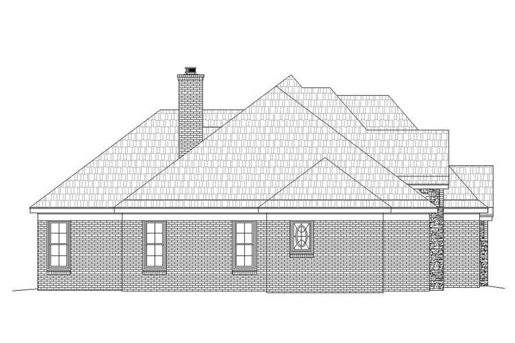 Traditional House Plan -  90618 - Left Exterior