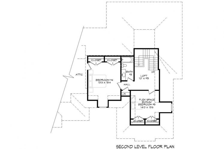 Traditional House Plan -  90618 - 2nd Floor Plan