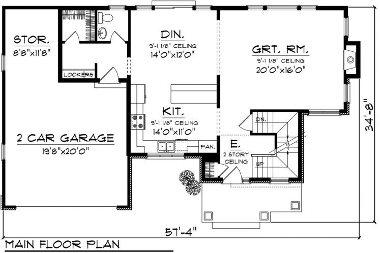Traditional House Plan -  90656 - 1st Floor Plan
