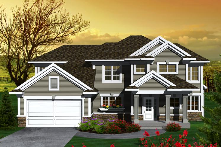Traditional House Plan -  90656 - Front Exterior