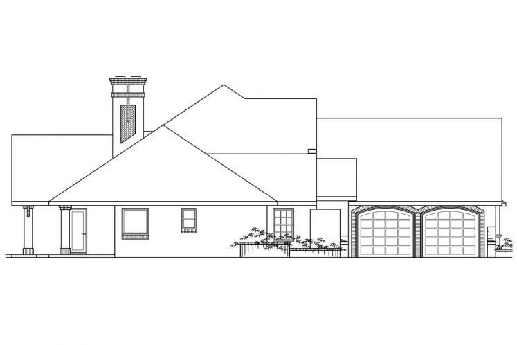 Tudor House Plan - Marcellus 90720 - Left Exterior