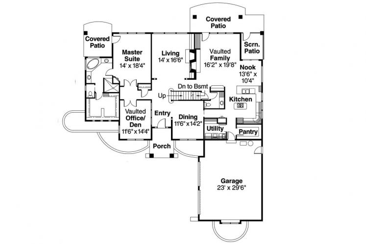 Classic House Plan - Marcellus 90720 - 1st Floor Plan
