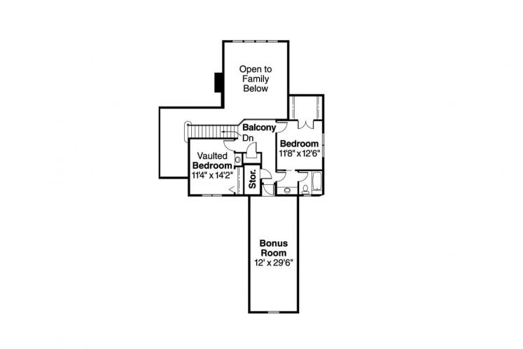 Tudor House Plan - Marcellus 90720 - 2nd Floor Plan