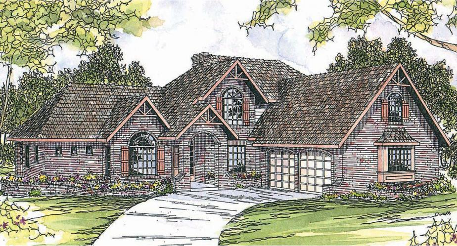 European House Plan - Marcellus 90720 - Front Exterior