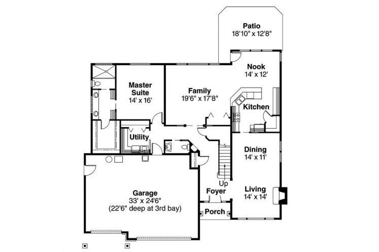 Craftsman House Plan - Tamarack 90757 - 1st Floor Plan
