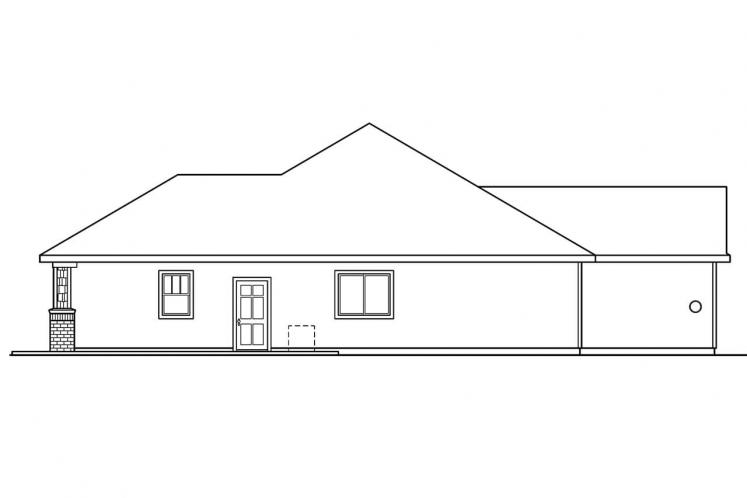 Contemporary House Plan - Beaufort 90768 - Right Exterior