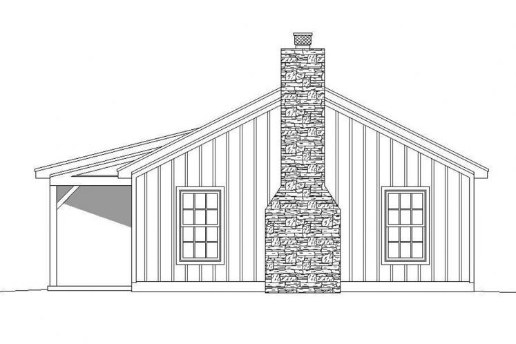 Country House Plan -  90877 - Right Exterior