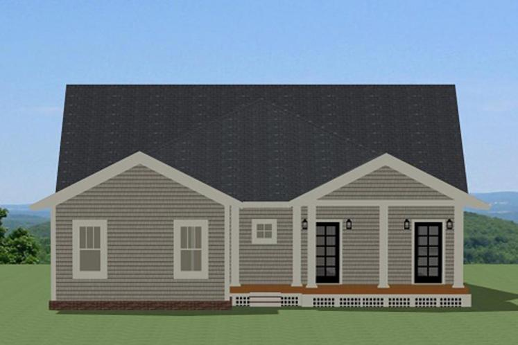 Ranch House Plan - Cotswald 90916 - Rear Exterior