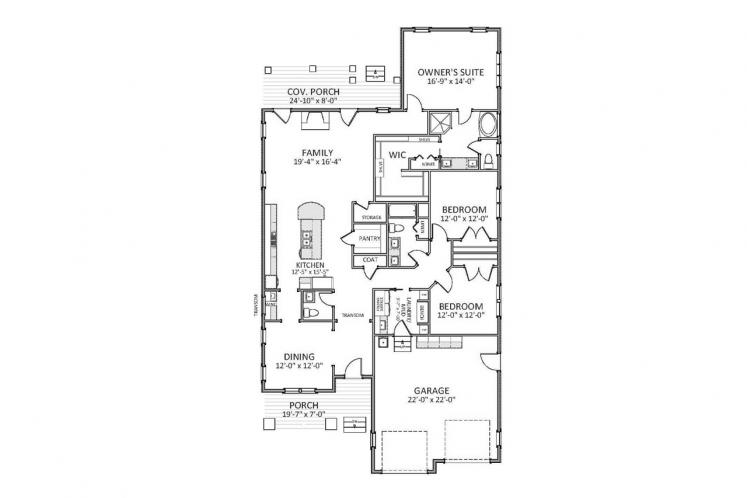 Craftsman House Plan - Cotswald 90916 - 1st Floor Plan
