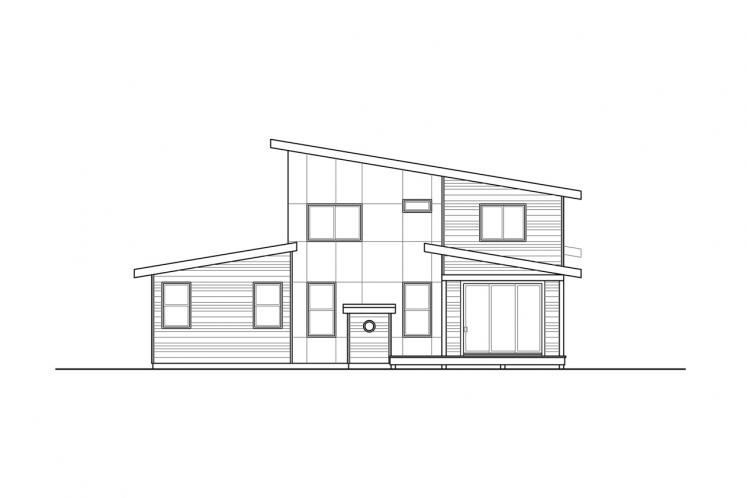 Modern House Plan - Pinehurst 90934 - Rear Exterior