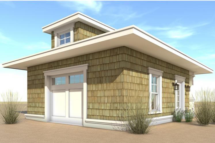 Traditional Garage Plan - Landlubber Garage 90945 - Rear Exterior