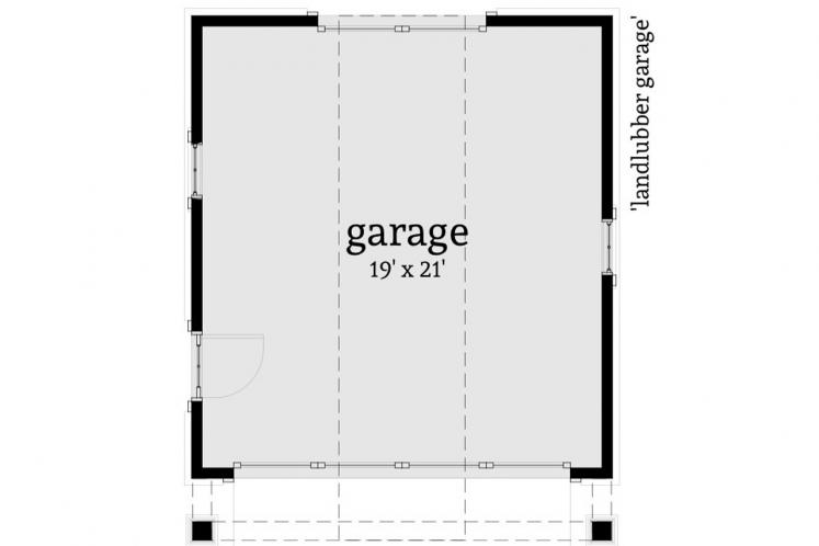 Cape Cod Garage Plan - Landlubber Garage 90945 - 1st Floor Plan