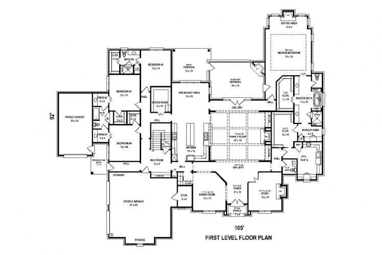 Southern House Plan -  91174 - 1st Floor Plan