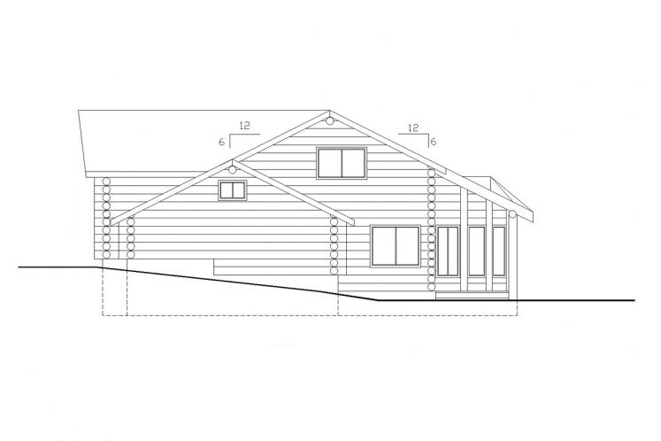 Lodge Style House Plan -  91484 - Left Exterior