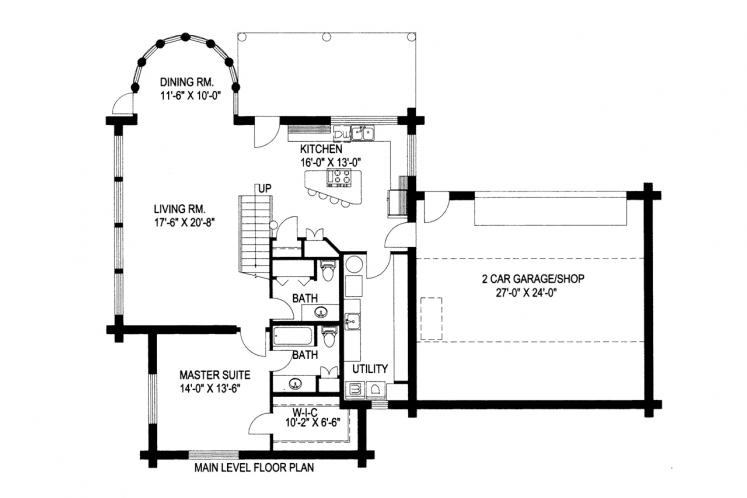 Country House Plan -  91484 - 1st Floor Plan