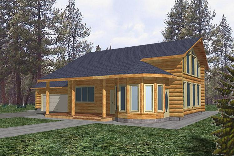 Lodge Style House Plan -  91484 - Front Exterior