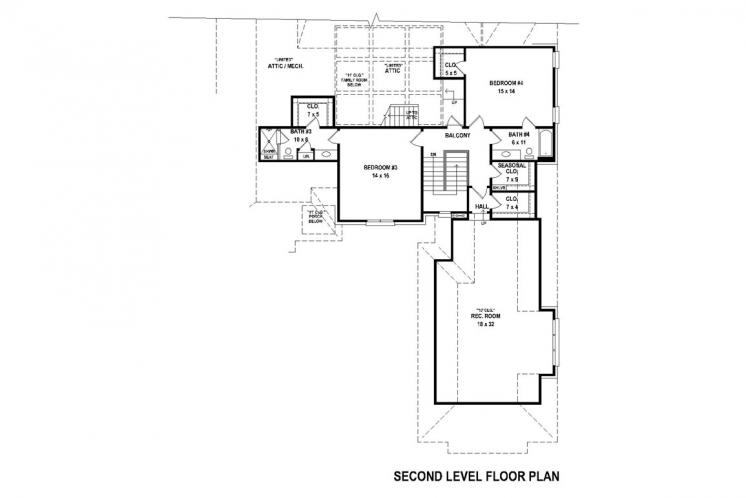 Traditional House Plan -  91654 - 2nd Floor Plan