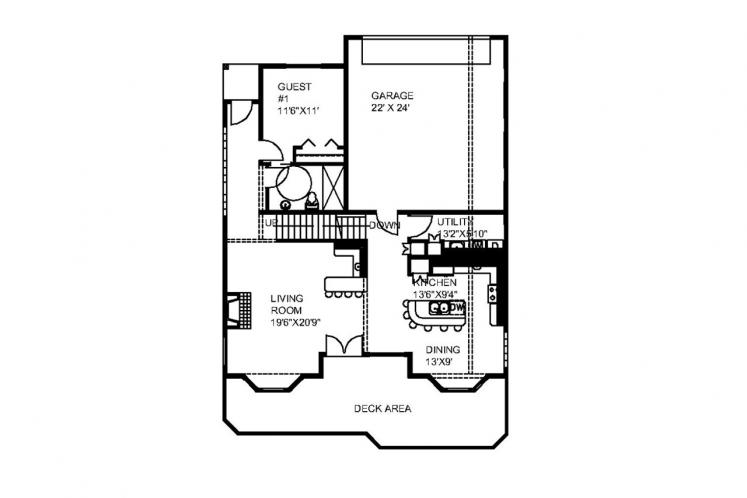 Country House Plan -  91675 - 1st Floor Plan