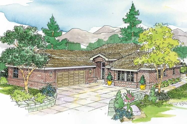 Traditional House Plan - Crosbyton 91709 - Front Exterior