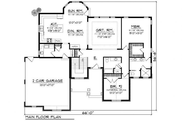 Traditional House Plan -  91800 - 1st Floor Plan