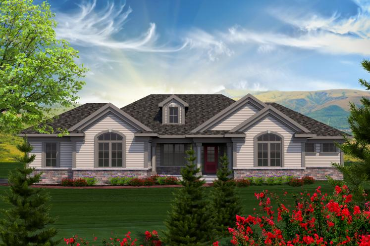 Traditional House Plan -  91800 - Front Exterior