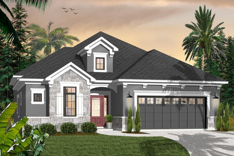 Country House Plan - Lambert 91829 - Front Exterior