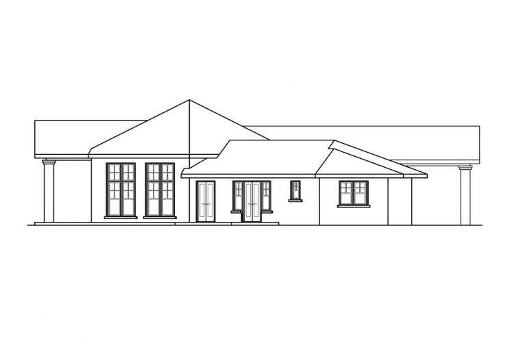 Southern House Plan - Georgetown 91907 - Left Exterior