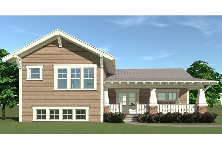 Traditional House Plan - Deven 91999 - Rear Exterior