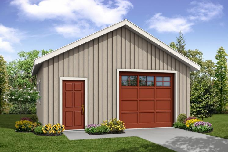 Traditional Garage Plan -  92031 - Front Exterior