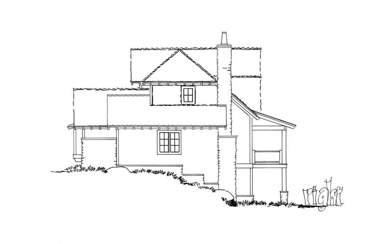 Country House Plan - Fall River 92064 - Right Exterior
