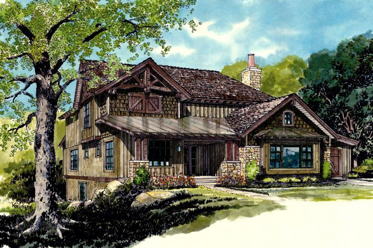 Country House Plan - Fall River 92064 - Front Exterior