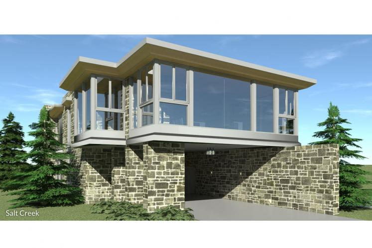 Contemporary House Plan - Salt Creek 92146 - Front Exterior