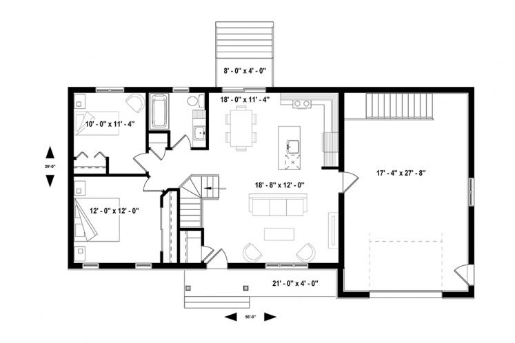 Ranch House Plan - Miranda 4 92151 - 1st Floor Plan