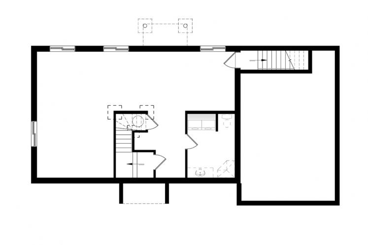 Country House Plan - Miranda 4 92151 - Basement Floor Plan