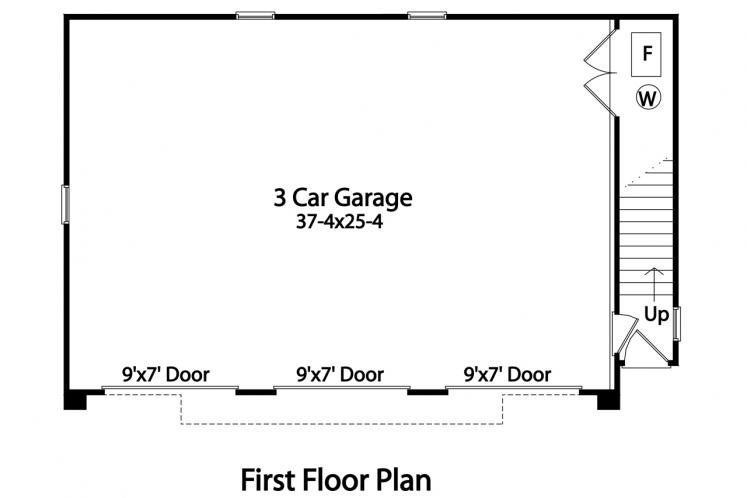 Traditional Garage Plan -  92241 - 1st Floor Plan